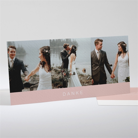 Danksagungskarte Hochzeit Zarte Mitteilung réf.N13194