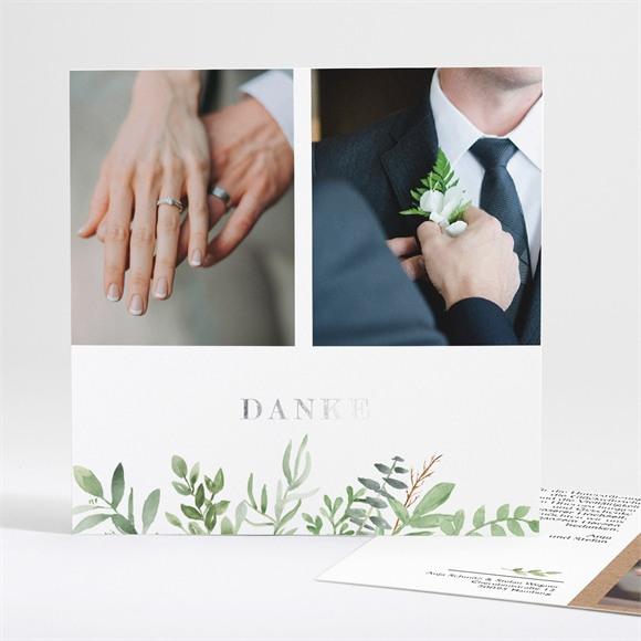 Danksagungskarte Hochzeit Zierliches Laub réf.N35140