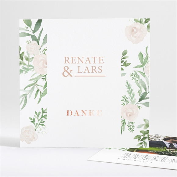 Danksagungskarte Hochzeit Frühlingsrosen réf.N35138