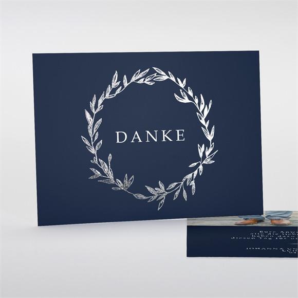 Danksagungskarte Hochzeit Mineral Blau réf.N18122
