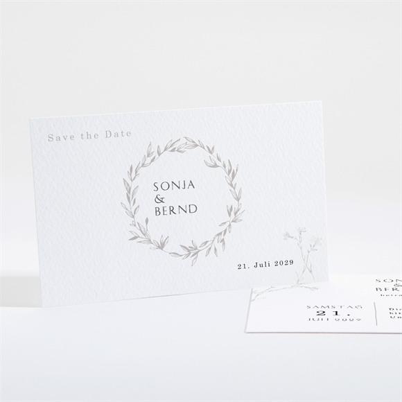 Save the Date Hochzeit Einfach geschmückt réf.N16191