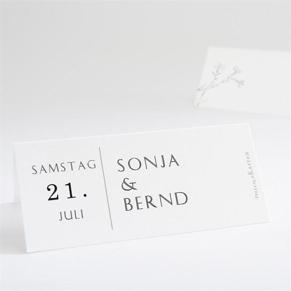 Tischkarte Hochzeit Einfach geschmückt réf.N440742