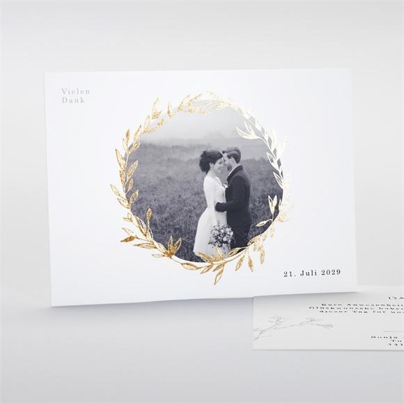 Danksagungskarte Hochzeit Einfach geschmückt réf.N18124