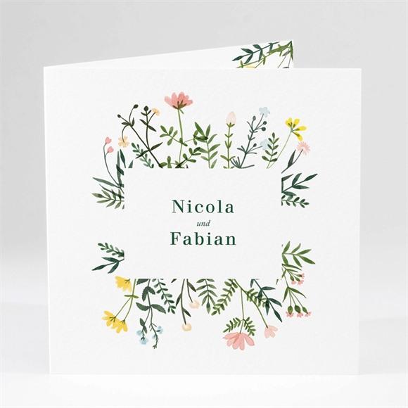 Einladungskarte Hochzeit Wilde Blumen réf.N46139