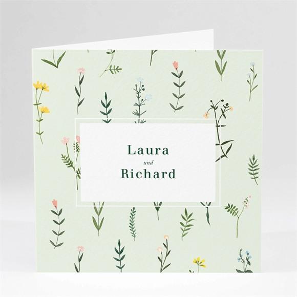 Einladungskarte Hochzeit Frühlingsblumen réf.N46140