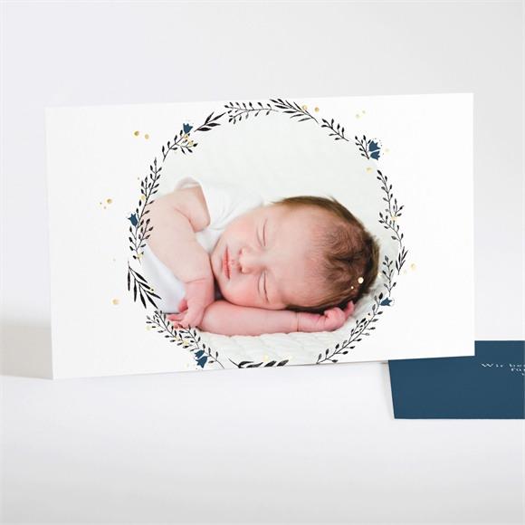 Danksagungskarte Geburt Initial Gold réf.N17121