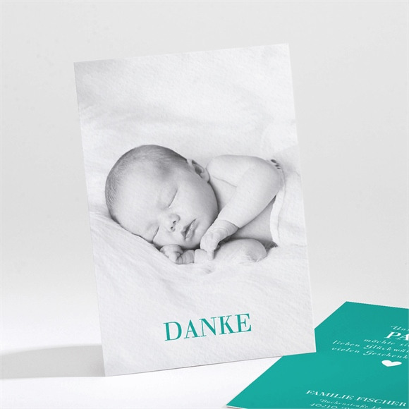 Danksagungskarte Geburt Pfefferminz réf.N211235