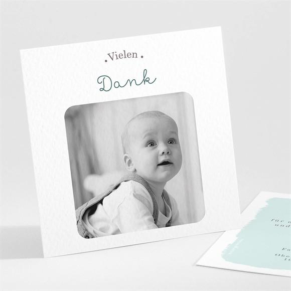 Danksagungskarte Geburt Schaukelpferd Junge réf.N301150