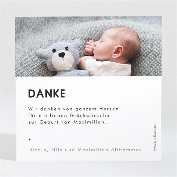 Danksagungskarte Geburt Fotoautomat Design réf.N3001581