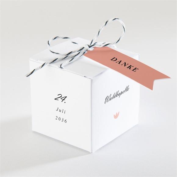 Zuckermandel Schachtel (Taufe) Kartentrio Rosa réf.N340245