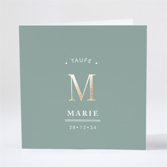 Einladungskarte Taufe Goldene Verkündung réf.N46122