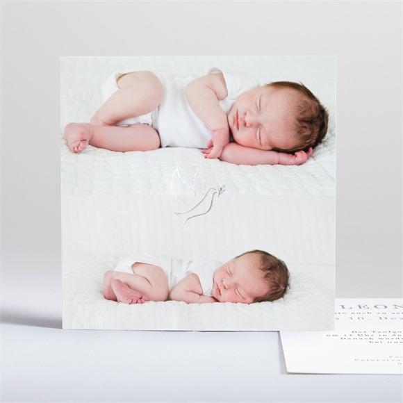 Einladungskarte Taufe Doppeltes Porträt réf.N35149