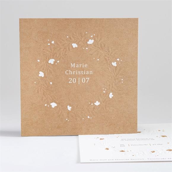 Einladungskarte Hochzeit Windröschen réf.N35172