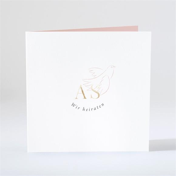 Einladungskarte Hochzeit Liebestaube réf.N46136
