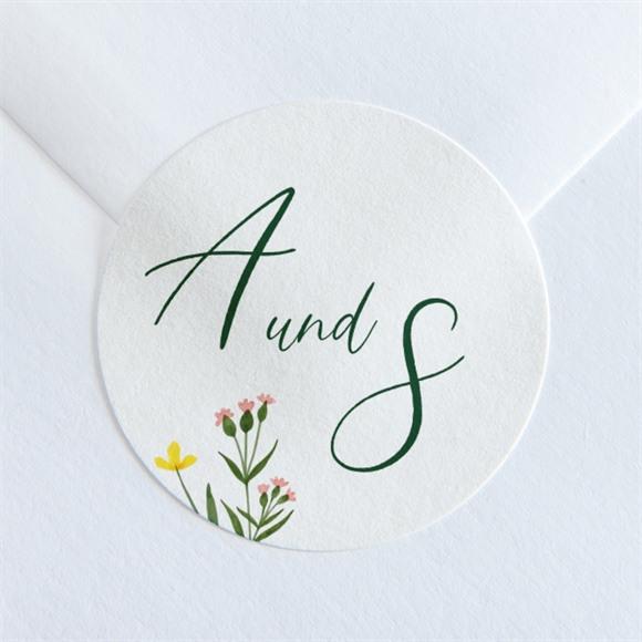 Aufkleber Hochzeit Blumenkreis réf.N36054