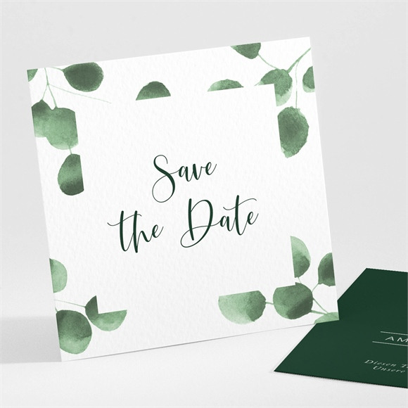 Save the Date Hochzeit Eukalyptus réf.N301206