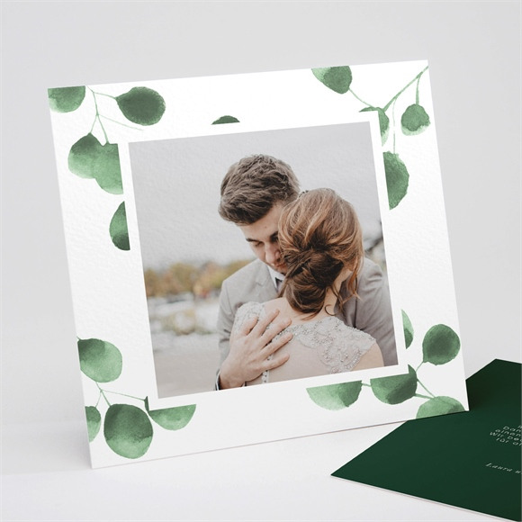 Danksagungskarte Hochzeit Eukalyptus réf.N311255