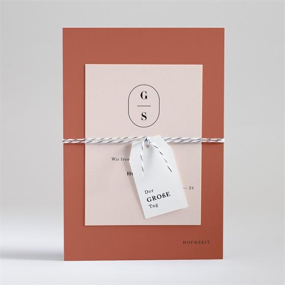 Einladungskarte Hochzeit Terrakotta réf.N99122