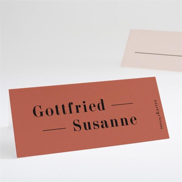 Tischkarte Hochzeit Terrakotta réf.N440753