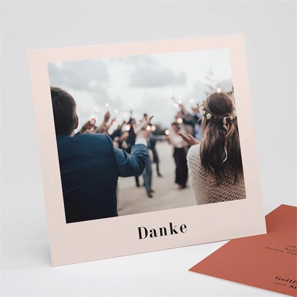 Danksagungskarte Hochzeit Terrakotta réf.N311256