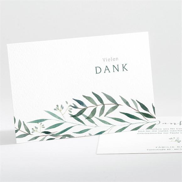 Danksagungskarte Taufe Pflanzenschmuck réf.N111255