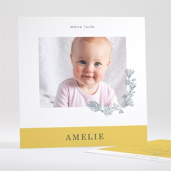 Einladungskarte Taufe Fröhliches Porträt réf.N35150