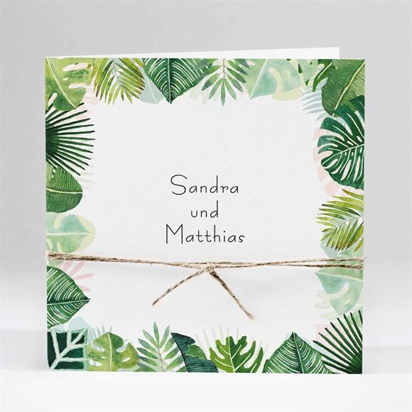 Einladungskarte Hochzeit Dschungel Bild réf.N451167