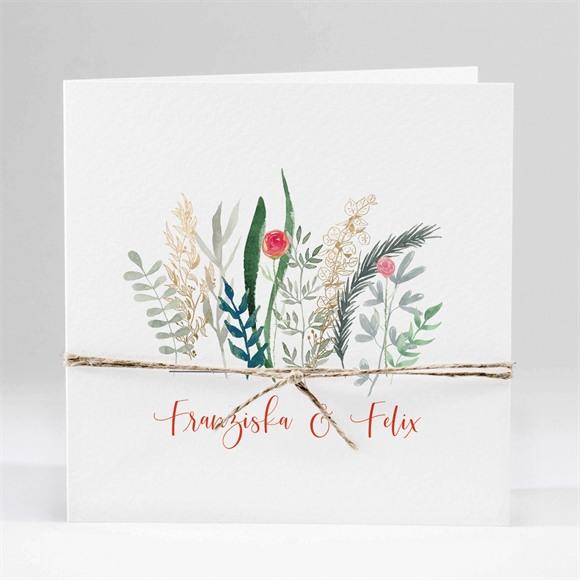 Einladungskarte Hochzeit Frühlingsdüfte réf.N451169