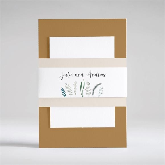 Einladungskarte Hochzeit Strauß in Nude réf.N53101