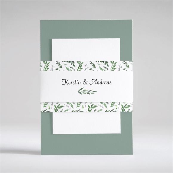 Einladungskarte Hochzeit Blätterband réf.N53106