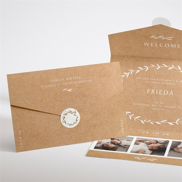 Geburtskarte Pretty Envelope réf.N97116