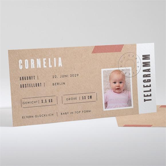 Geburtskarte Telegramm réf.N13192