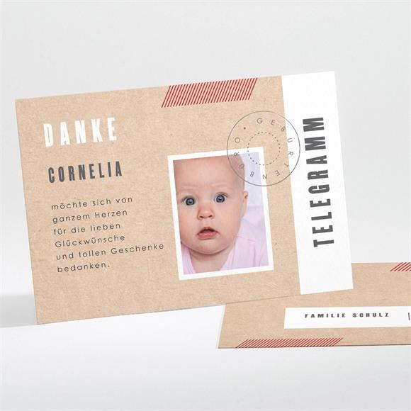 Danksagungskarte Geburt Telegramm réf.N111251