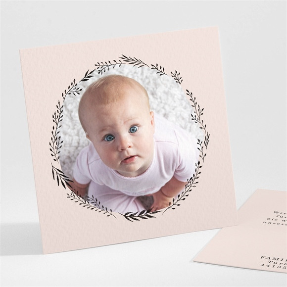 Danksagungskarte Geburt Pastell Kranz réf.N301167