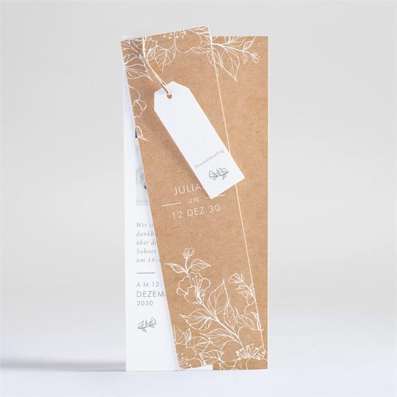 Geburtskarte Weiße Gravur réf.N93117
