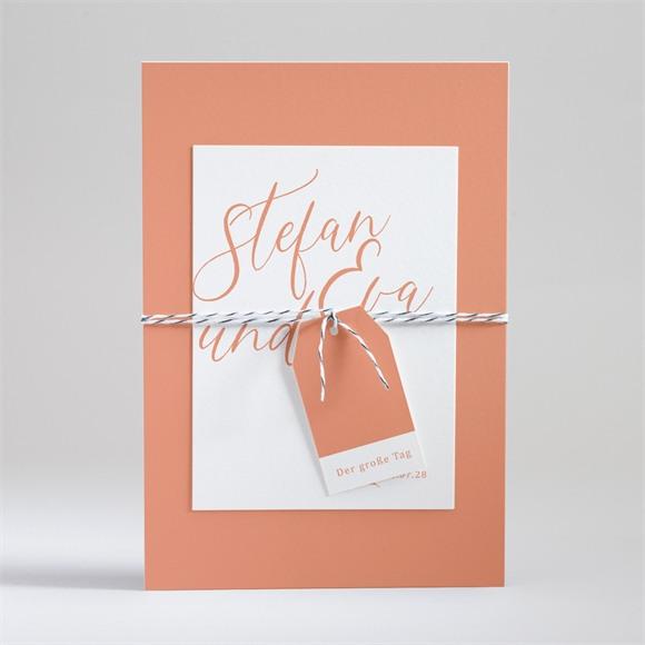 Einladungskarte Hochzeit Exzentrik réf.N99125