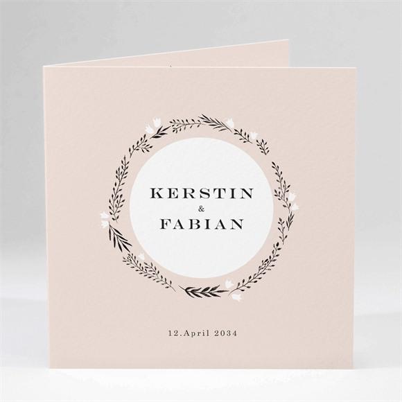 Einladungskarte Hochzeit In Pink und Weiß réf.N451184
