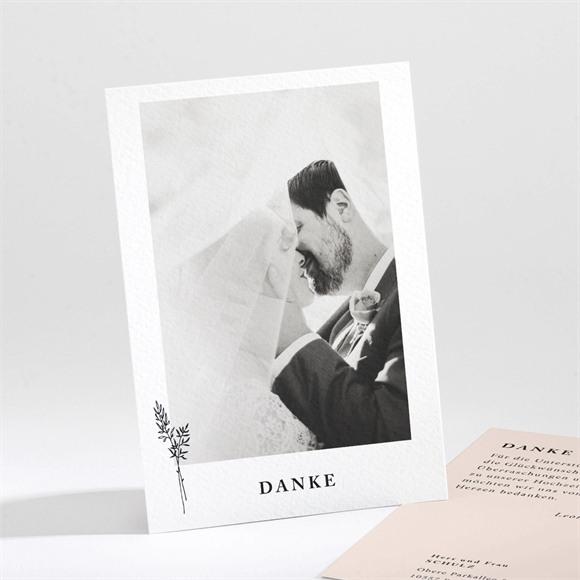 Danksagungskarte Hochzeit Zartes Trio réf.N211274