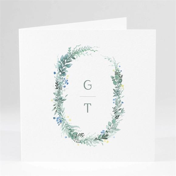 Einladungskarte Hochzeit Aquarell Poesie réf.N46148