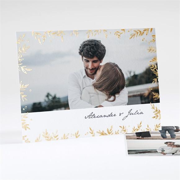 Einladungskarte Hochzeit Laub réf.N18134