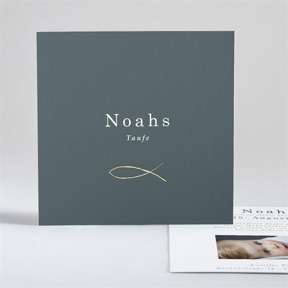 Einladungskarte Taufe Fisch réf.N351125