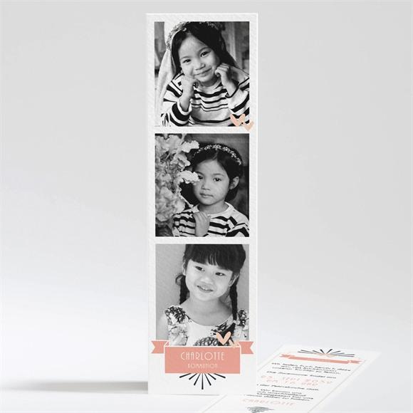 Einladungskarte Kommunion Fotoblock Einladung réf.N201100