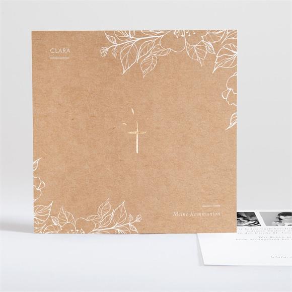Einladungskarte Kommunion zarte Malerei réf.N35152