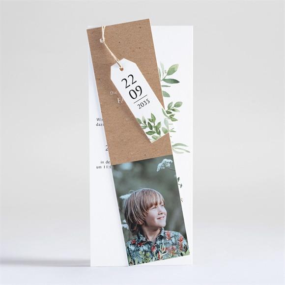 Einladungskarte Kommunion Pflanzenillustration réf.N93114
