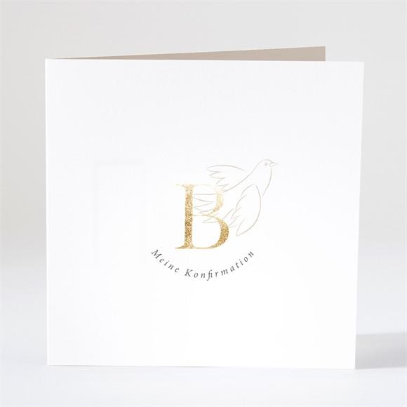 Einladungskarte Konfirmation Goldbuchstabe réf.N46153