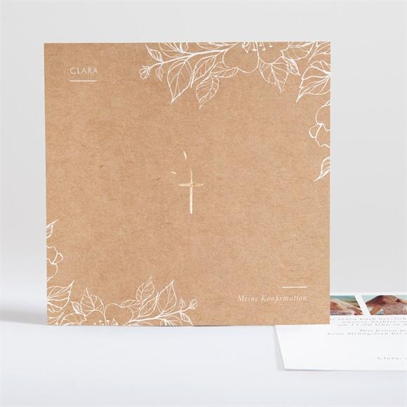 Einladungskarte Konfirmation Weiße Malerei réf.N351135