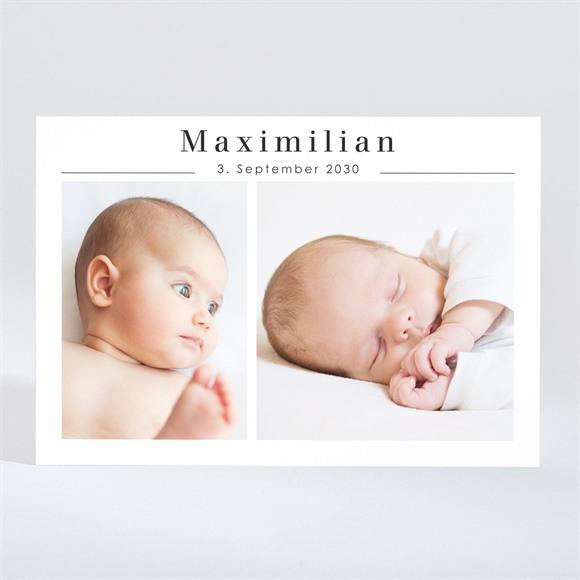 Geburtskarte Minimalistischer Glanz réf.N11020