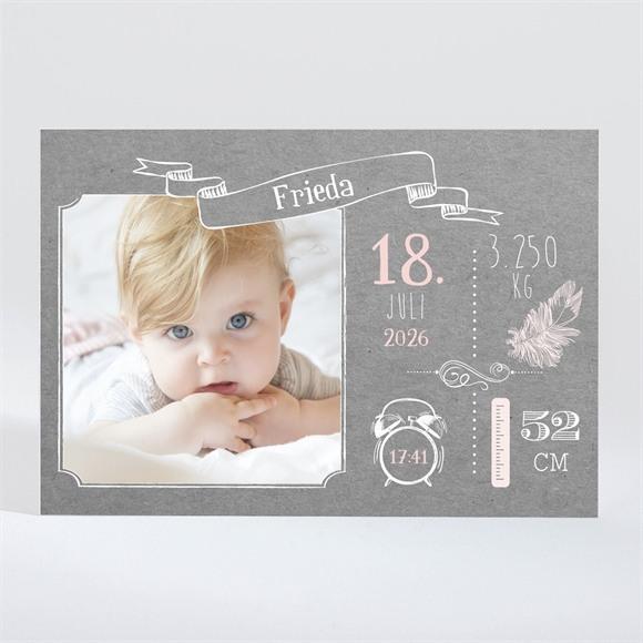 Geburtskarte Vintage Touch réf.N11023