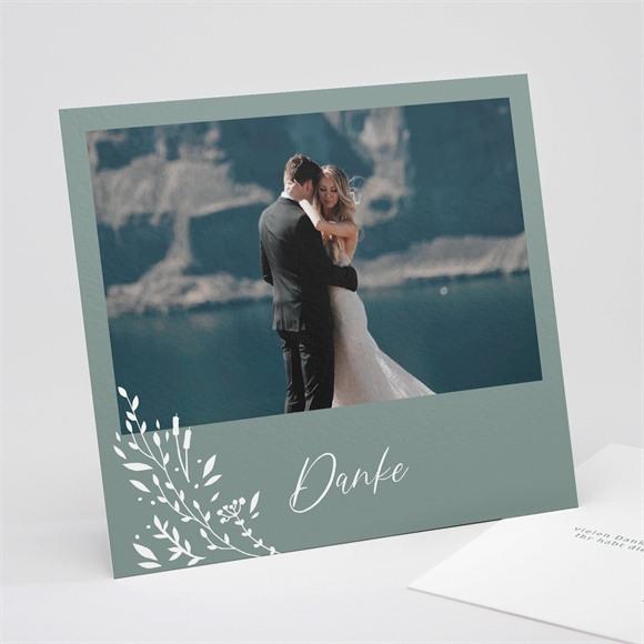 Danksagungskarte Hochzeit Poetische Eleganz réf.N311259