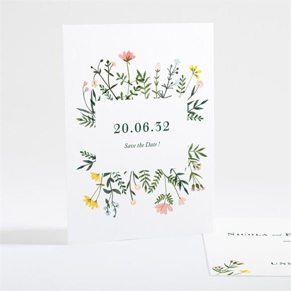 Save the Date Hochzeit Wilde Blumen réf.N25111